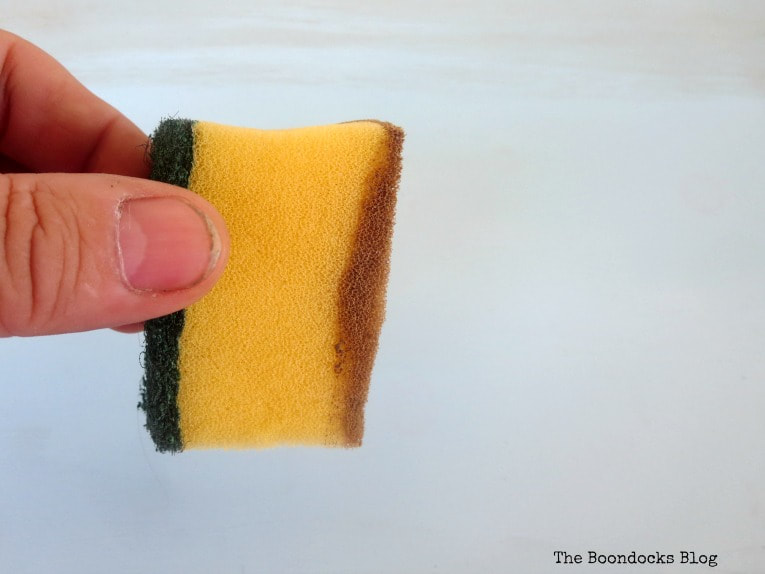 A piece of a sponge with brown wax, How to Give an