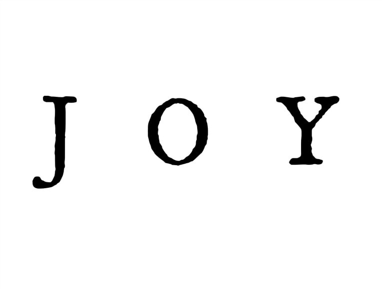 printable of the word Joy as I used it, How to make Easy Wall Decor for the Holidays, www.theboondocksblog.com