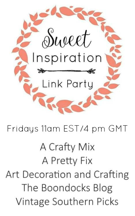 Sweet Inspiration Link Party Logo www.theboondocksblog.com