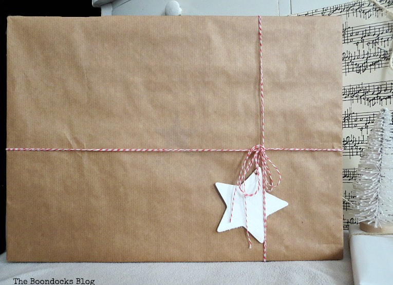 brown paper wrapping, Three simple gift wrapping ideas for the Holidays, www.theboondocksblog.com