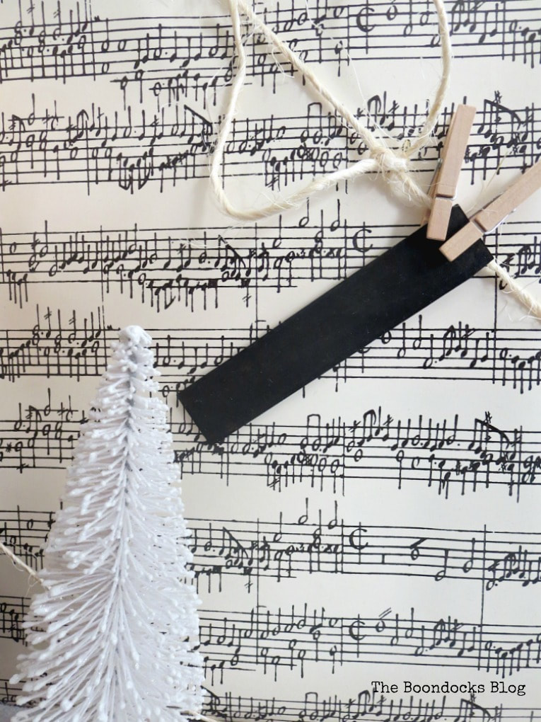 musical notes wrapping paper, Three simple gift wrapping ideas for the Holidays, www.theboondocksblog.com