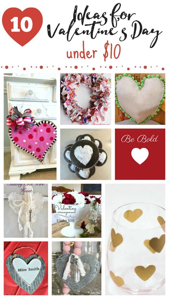 A round up of ten projects for Valentine's Day, Ten Projects for a Special Valentine's Day www.theboondocksblog.com #Crafts #ValentinesDay #DIYprojects #RepurposedItems #EasyValentinesDayIdeas