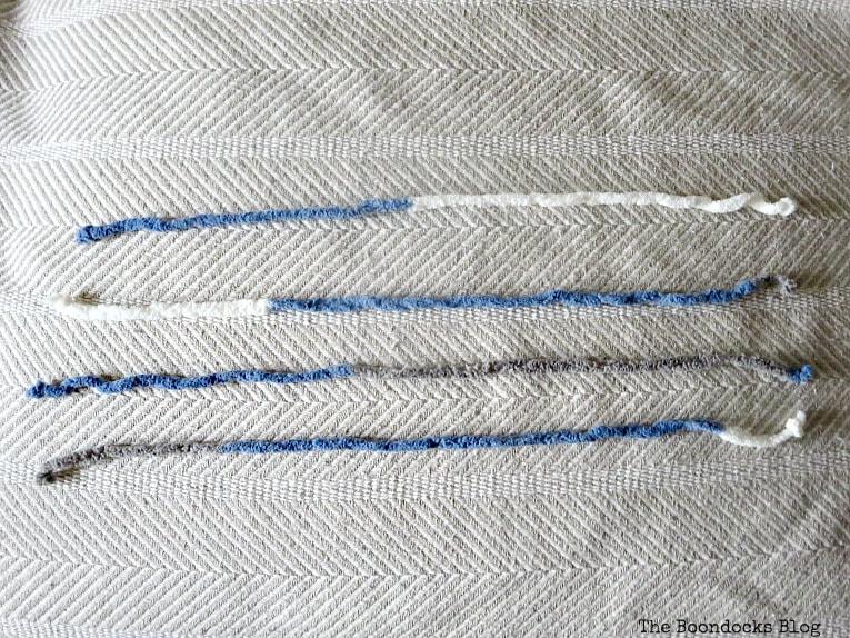 cutting the yarn, How to easily transform a blanket with yarn, www.theboondocksblog.com