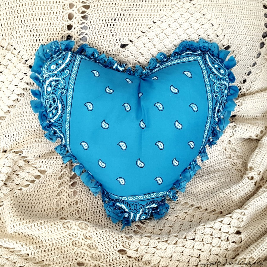 Pillow Heart A Crafty Mix, Ten Projects for a Special Valentine's Day www.theboondocksblog.com