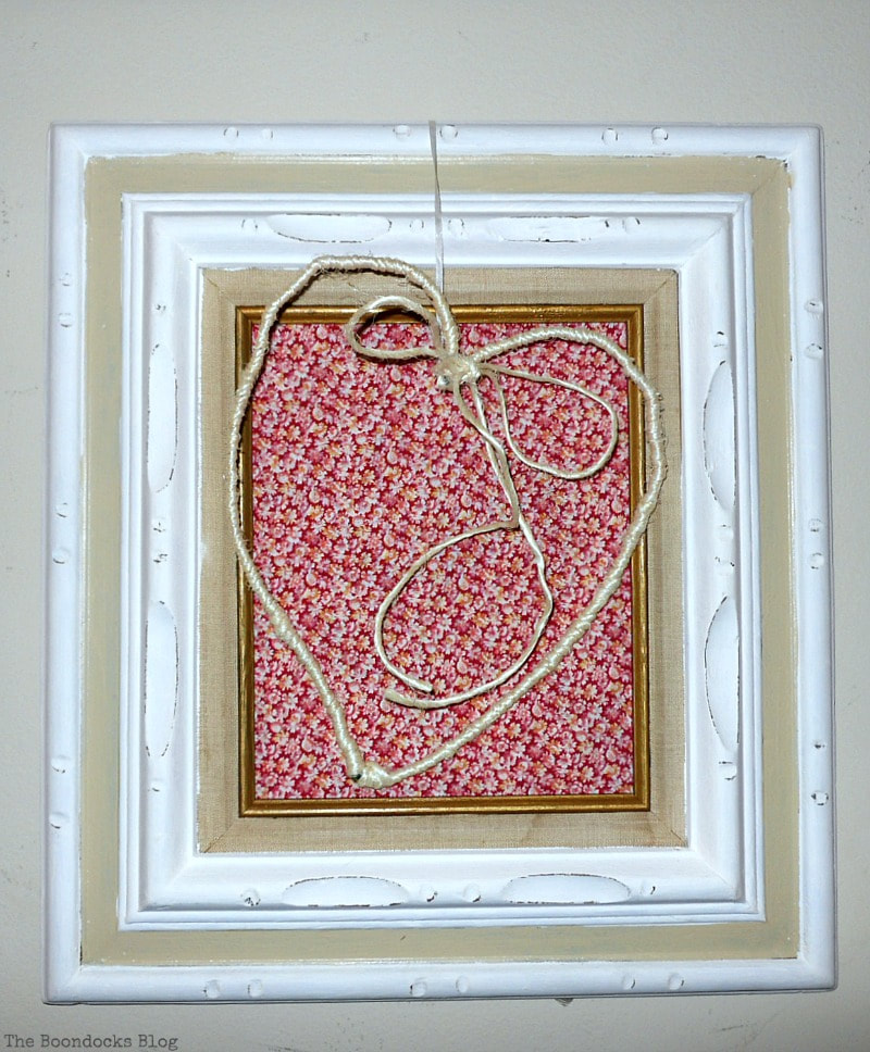 Framed Twine Heart, Ten Projects for a Special Valentine's Day www.theboondocksblog.com