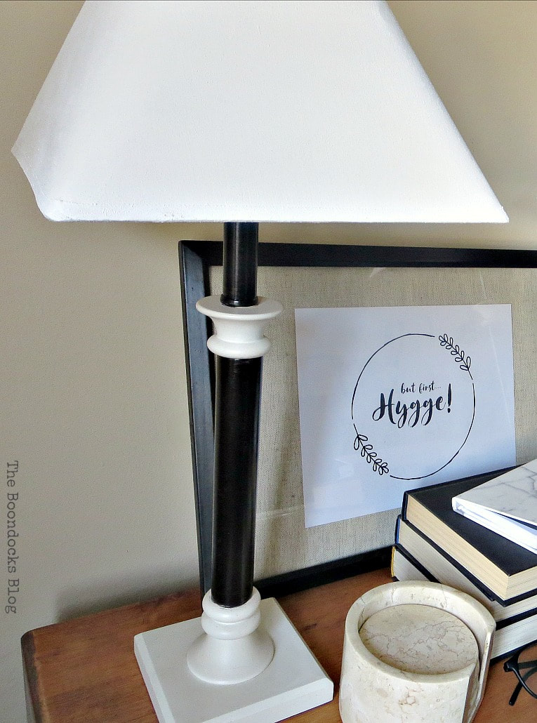 Lamp upcycled with paint, How to Give a New Life to Old Lamps www.theboondocksblog.com