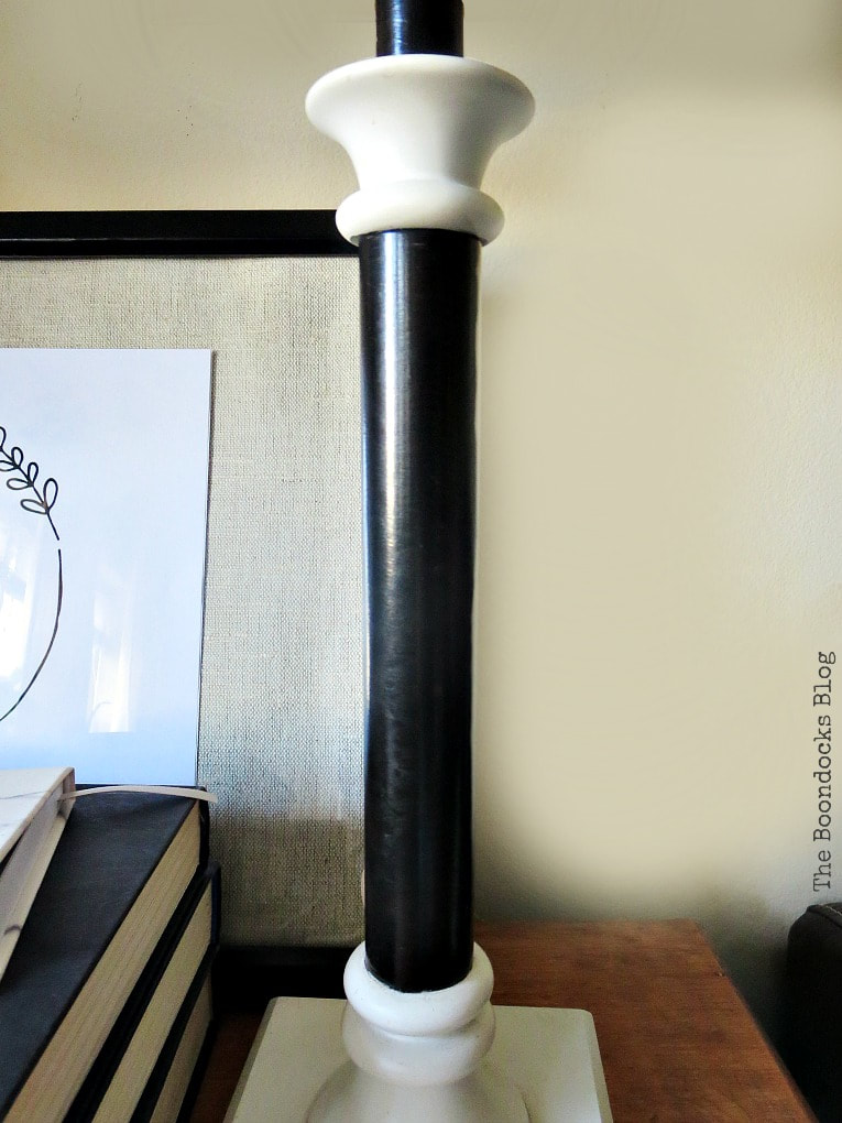 body of lamp in black, How to Give a New Life to Old Lamps www.theboondocksblog.com