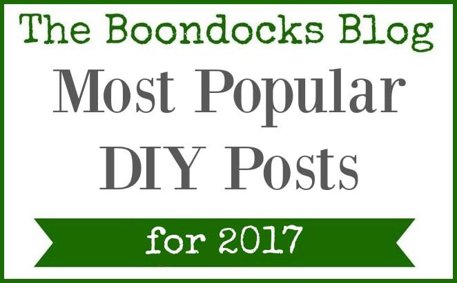 Logo, The Most Popular DIY Posts for 2017 www.theboondocksblog.com
