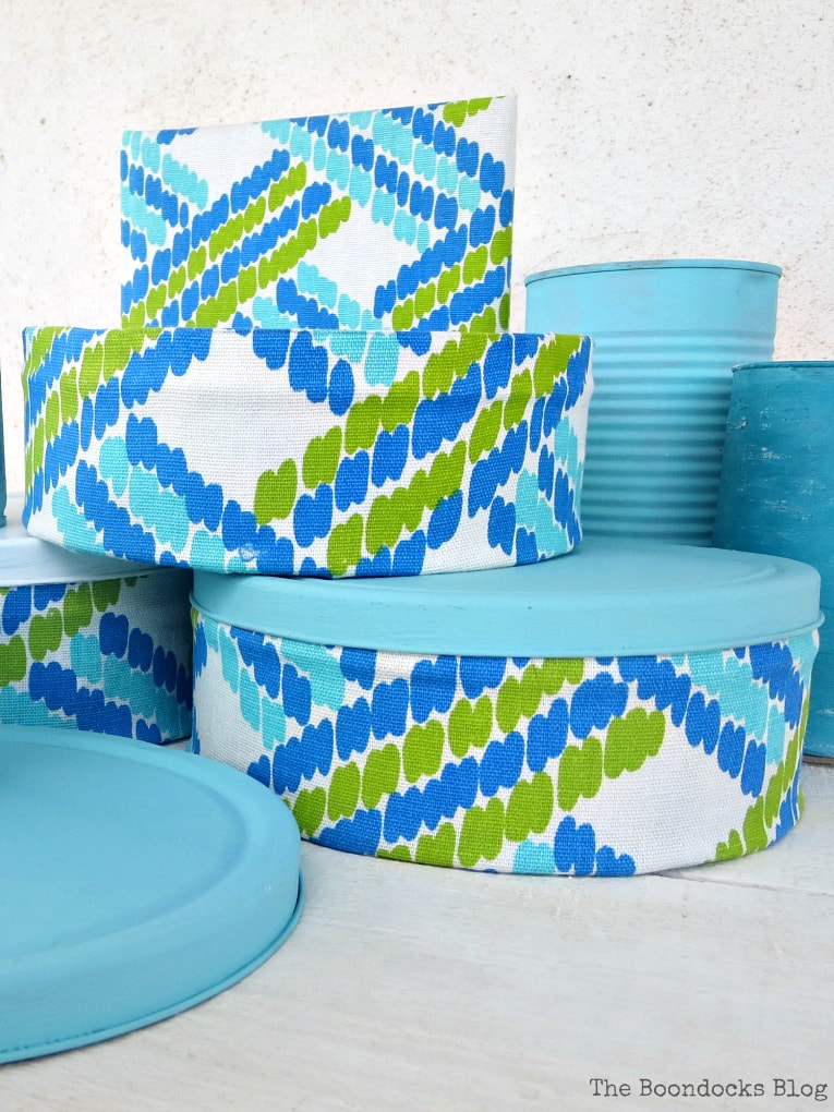 tin can upcycles with fabric, The Most Popular DIY Posts for 2017 www.theboondocksblog.com
