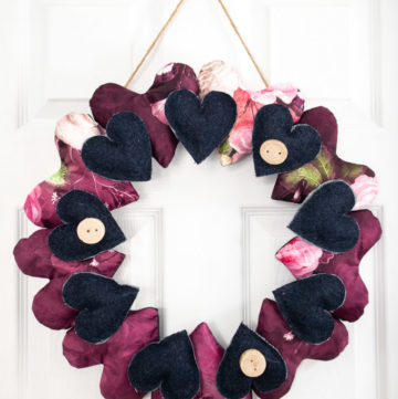 valentine's day crafts heart wreath