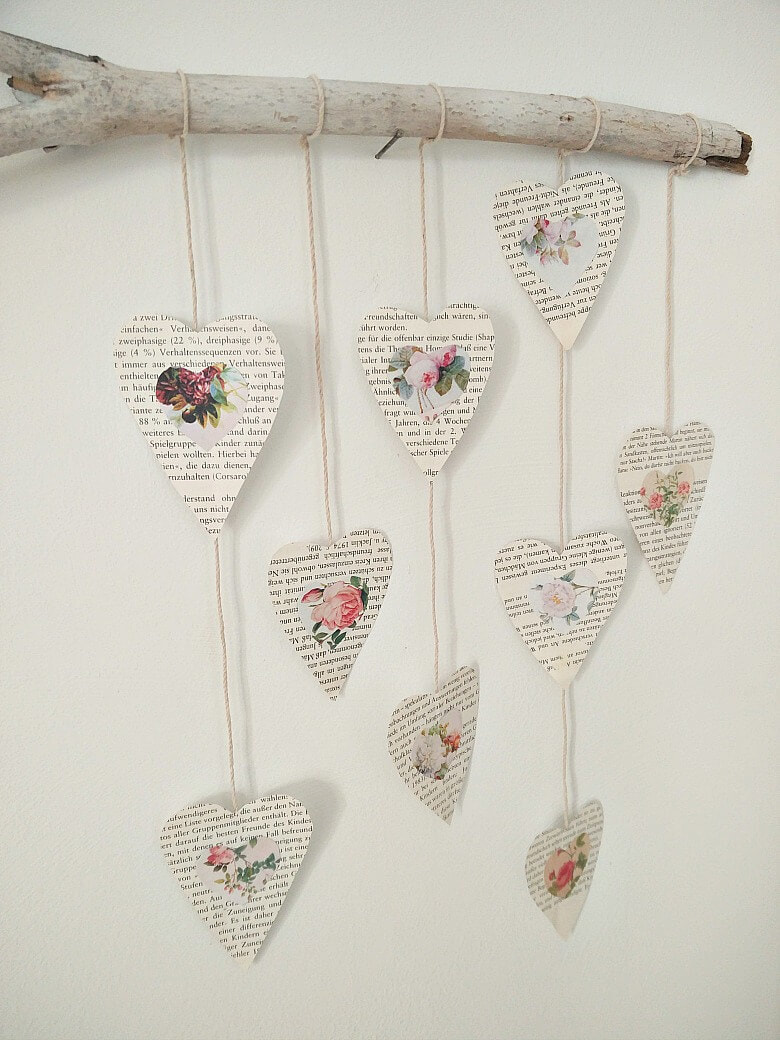 Wall Decor KreativK, Ten Projects for a Special Valentine's Day www.theboondocksblog.com