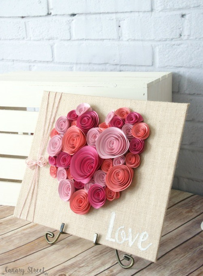 Spiral Paper Flowers Canary Street Crafts, Ten Projects for a Special Valentine's Day www.theboondocksblog.com
