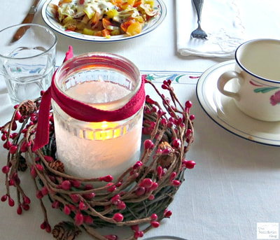 Valentine's day crafts tea lantern for Valentine's Day Breakfast