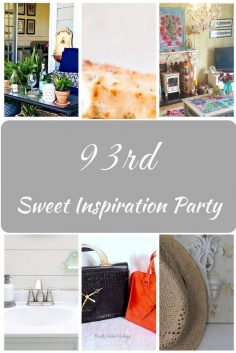 Sweet Inspiration Link Party #93 features