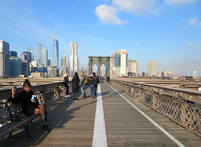 The center of the Bridge, A Tour of the Astonishing Brooklyn Bridge Walkway www.theboondocksblog.com
