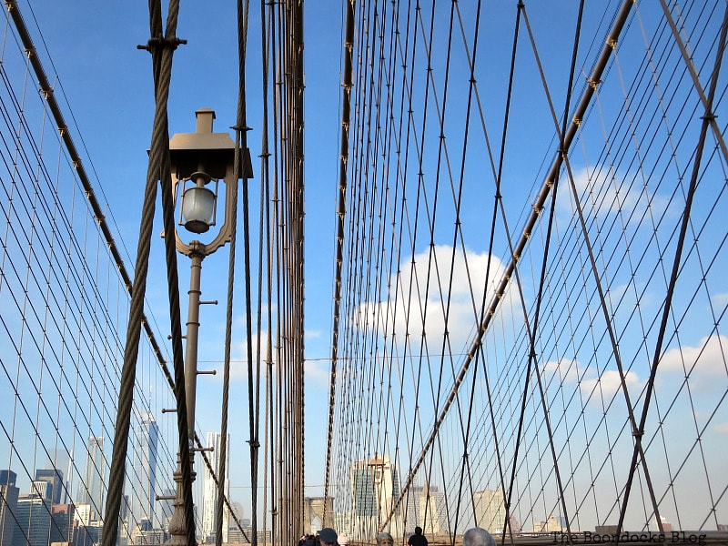 The cables of the Brooklyn Bridge, A Tour of the Astonishing Brooklyn Bridge Walkway www.theboondocksblog.com