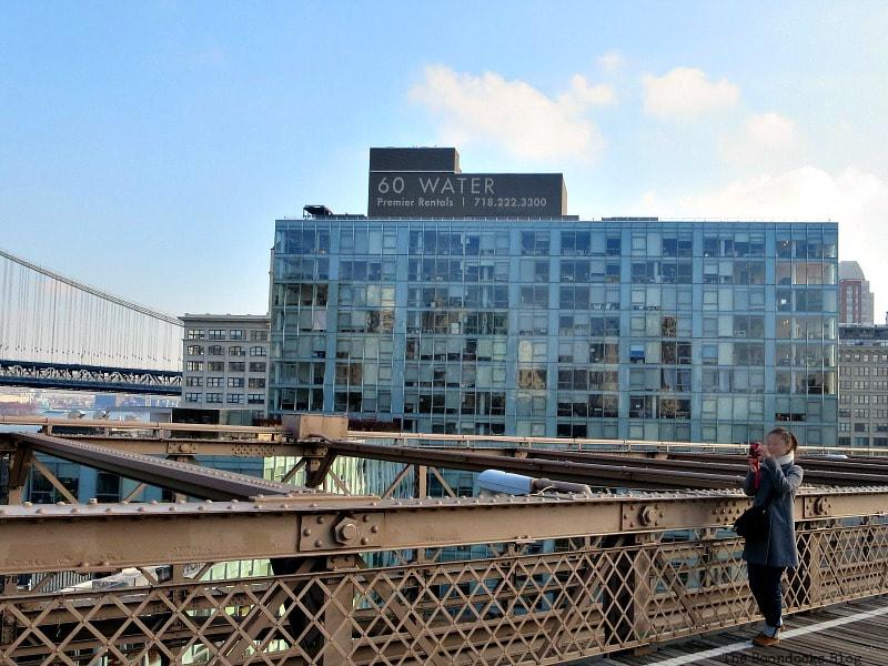 A view from the walkway to the DUMBO area of Brooklyn, A Tour of the Astonishing Brooklyn Bridge Walkway www.theboondocksblog.com