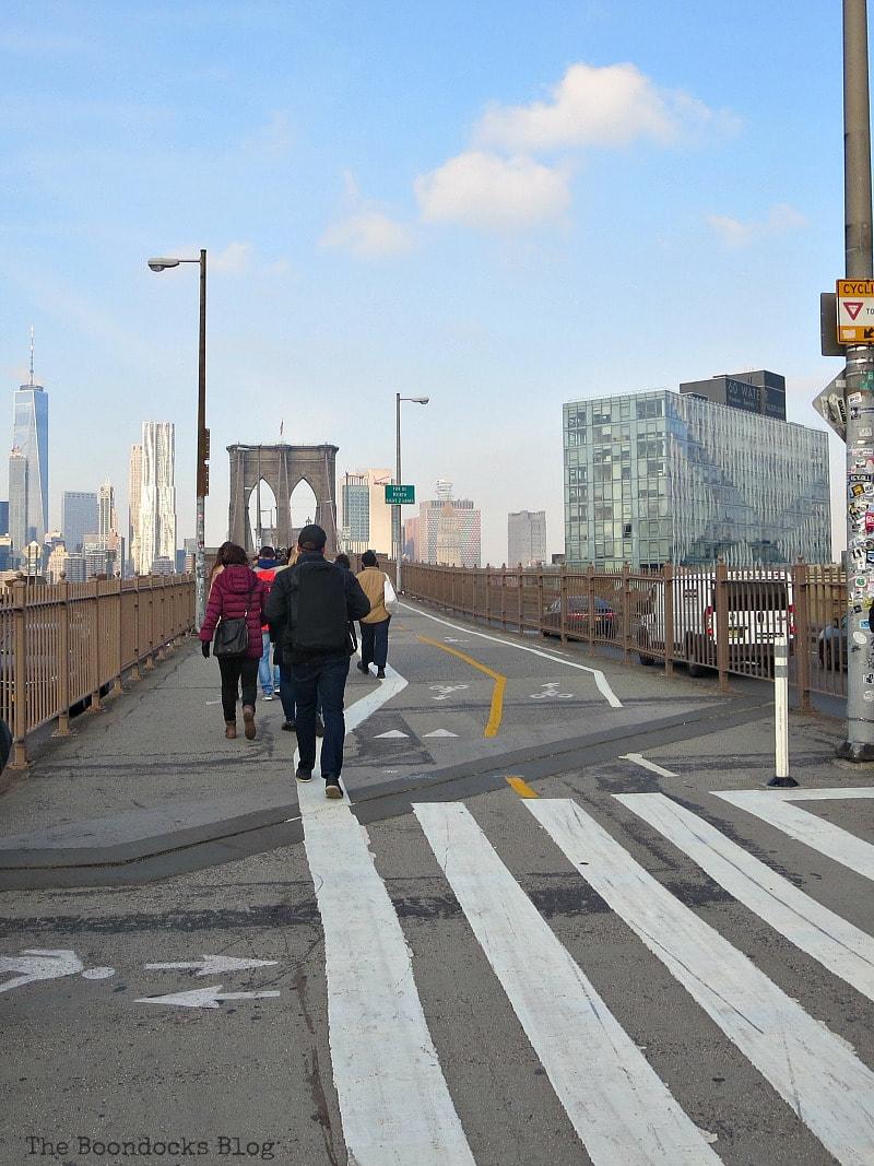 The entrance to the Brooklyn Bridge from Brooklyn, A Tour of the Astonishing Brooklyn Bridge Walkway www.theboondocksblog.com