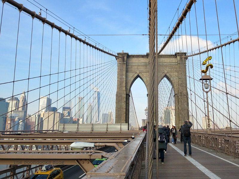 Past the Towers of the Brooklyn Bridge, A Tour of the Astonishing Brooklyn Bridge Walkway www.theboondocksblog.com