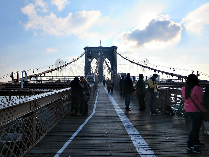 The walkway of the bridge, A Tour of the Astonishing Brooklyn Bridge Walkway www.theboondocksblog.com