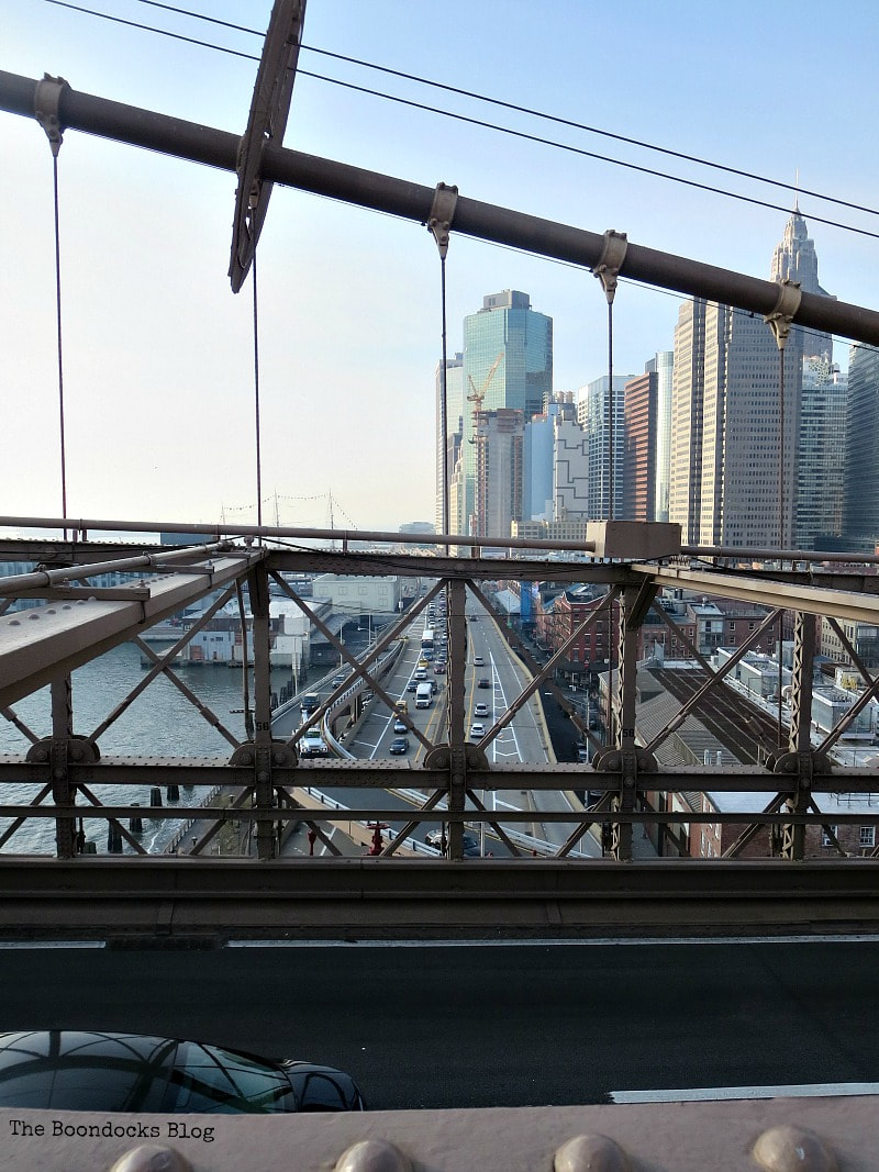 Looking south to the Financial District, A Tour of the Astonishing Brooklyn Bridge Walkway www.theboondocksblog.com