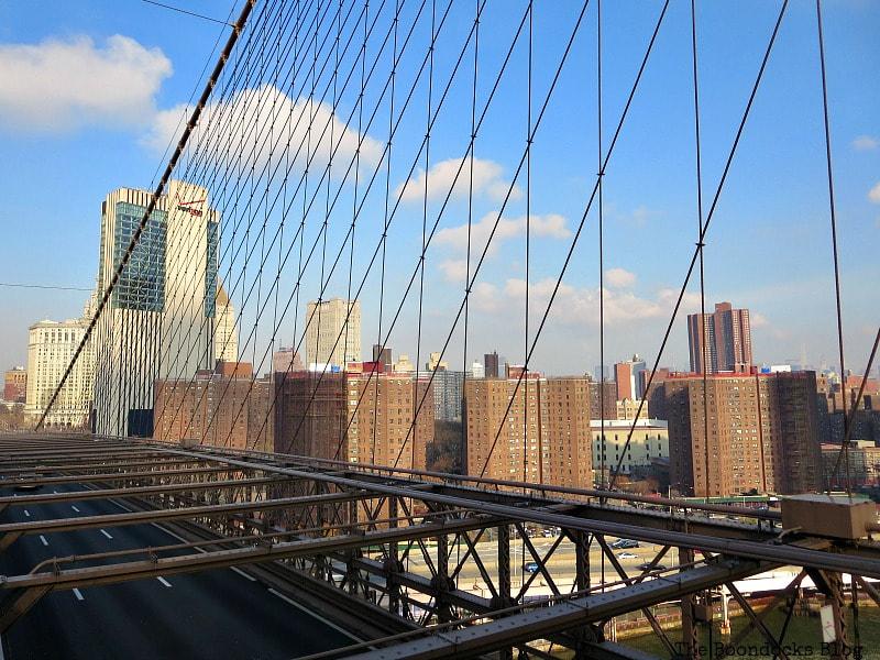 The North view of Manhattan from the Brooklyn Bridge, A Tour of the Astonishing Brooklyn Bridge Walkway www.theboondocksblog.com