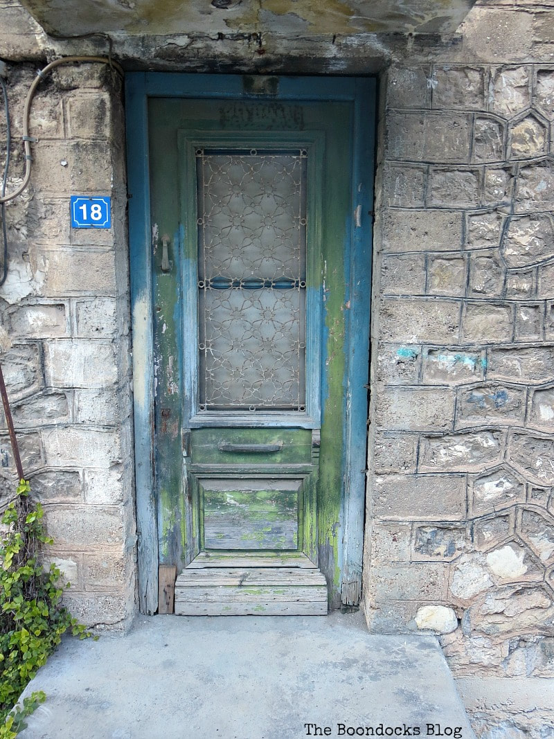 weathered blue and green door Celebrating a 3 year Blogoversary with Lots of Doors www.theboondocksblog.com