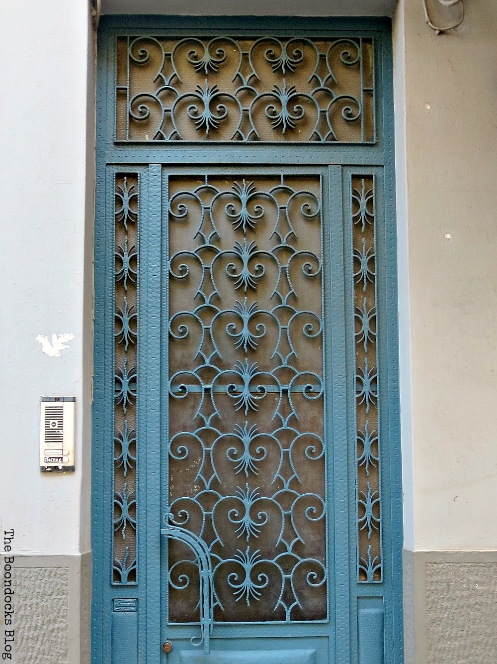 metal door with intricate design, Celebrating a 3 year Blogoversary with Lots of Doors www.theboondocksblog.com