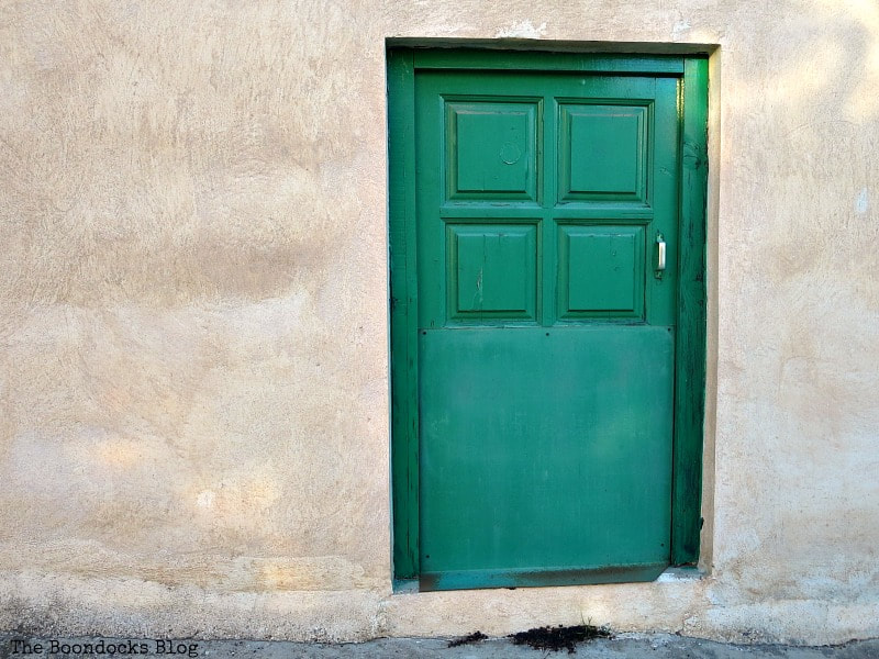 Small green door, Celebrating a 3 year Blogoversary with Lots of Doors www.theboondocksblog.com