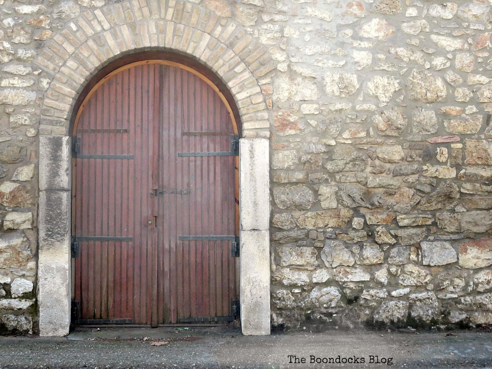 Arched wooden door, Celebrating a 3 year Blogoversary with Lots of Doors www.theboondocksblog.com