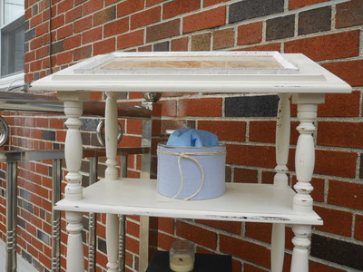 Dictionary Stand painted with chalky type paint
