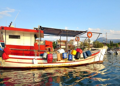 Fishing boat in the marina