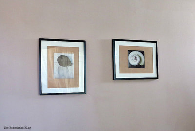 Two picture frames with Georgia O'Keeffe artwork