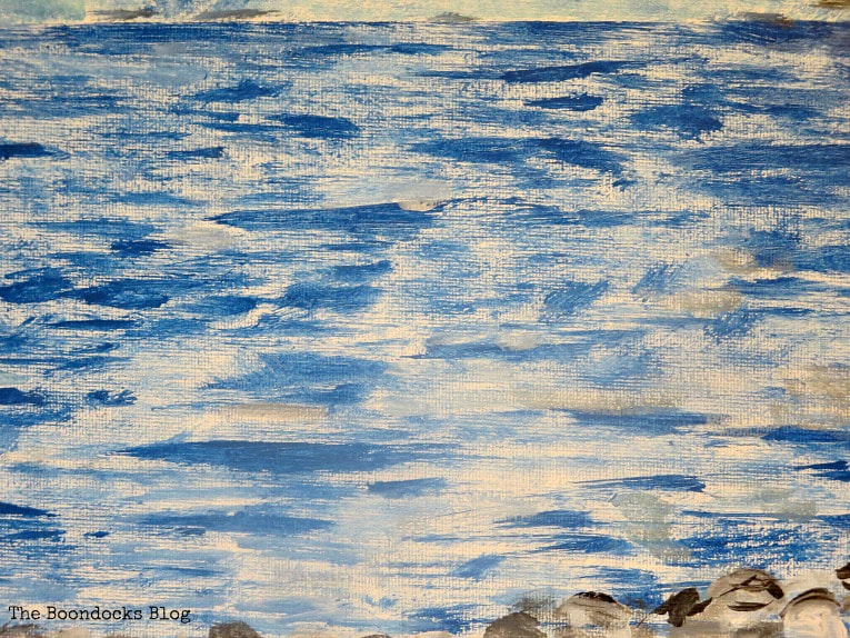 brush strokes for the sea, How to Make your Own Impressionist Art Painting www.theboondocksblog.com