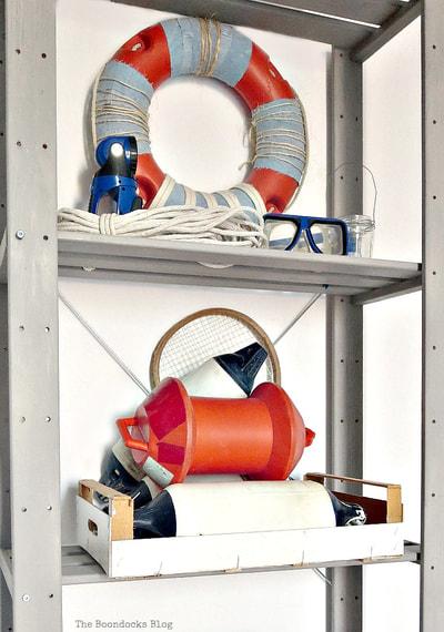 Ikea Hejne Shelf Unit painted with milk paint