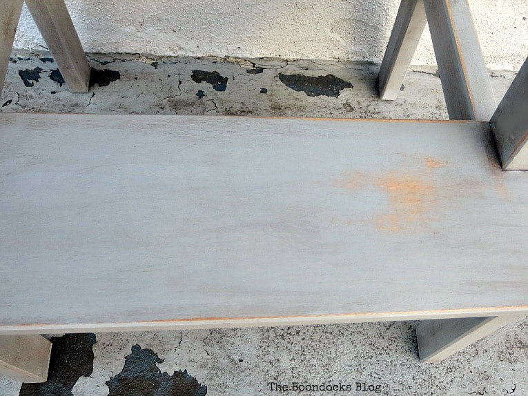 Distressing the stool, How to get an Easy Worn Look for an Ikea Stool, www.theboondocksblog.com