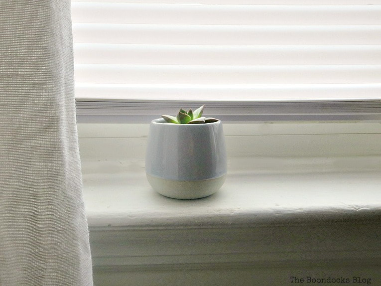 succulent on windowsill, How to Make Decorating Easy with the DIY Home Planner www.theboondocksblog.com