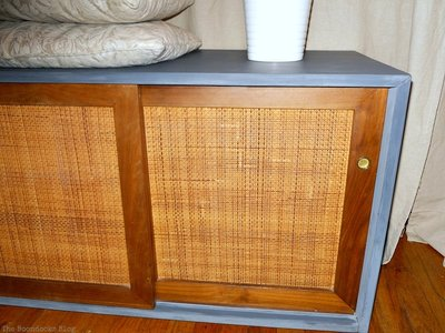 MCM sideboard painted with milk paint