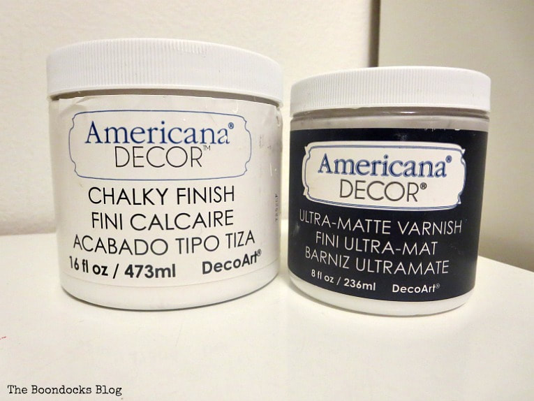 Americana Chalk finish paint and ultra matte varnish, How to Makeover a Mid-Century Modern China Cabinet, www.theboondocksblog.com