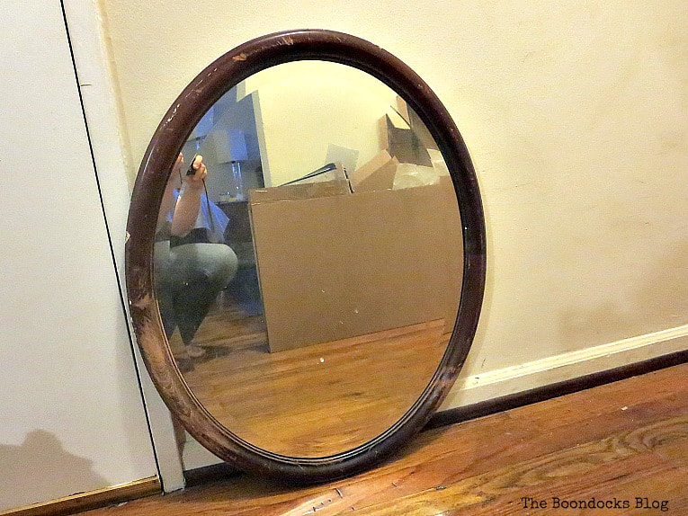 Old wooden mirror, How to Revive an Old Wood Mirror with Paint www.theboondocksblog.com