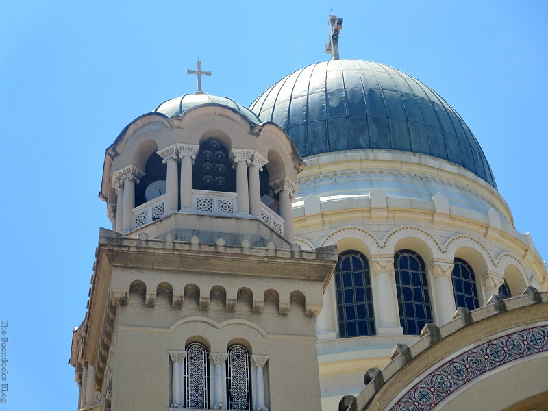 The domes of St. Andrew's Cathedral, Patra Greece, A Spotlight on Impressive Saint Andrew's Cathedral, www.theboondocksblog.com