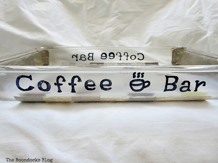 hand written coffee bar in front and back, How to Make a Fun and Sloppy Coffee Station www.theboondocksblog.com