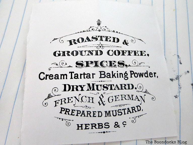 A printed out image from The Graphics Fairy, How to Make a Fun and Sloppy Coffee Station www.theboondocksblog.com