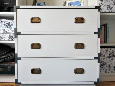 Campaign Dresser upcycle with paint