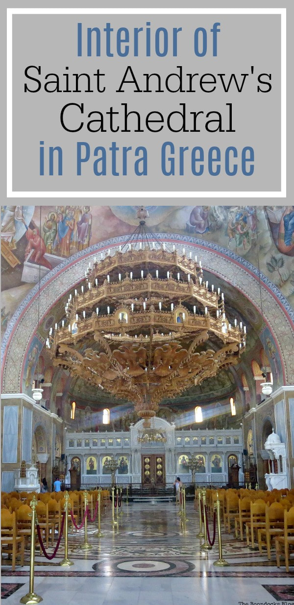 A photo essay of the interior of Saint Andrew Cathedral in Patra Greece #photography #Travel #Mosaics #Icons #Chandeliers #ByzantineArchitecture #ByzantineArt #ChristianOrthodox #Domes Admiring the Interior of Saint Andrew's Cathedral www.theboondocksblog.com