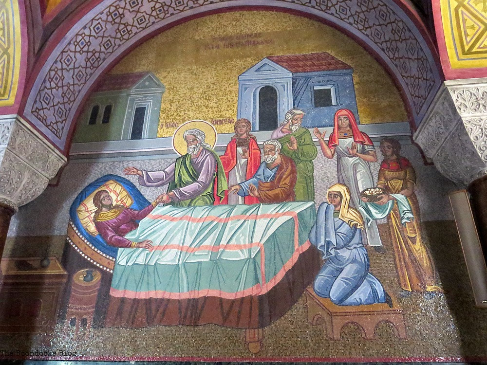 Mosaic on the wall of Virgin Mary, Admiring the Interior of Saint Andrew's Cathedral www.theboondocksblog.com