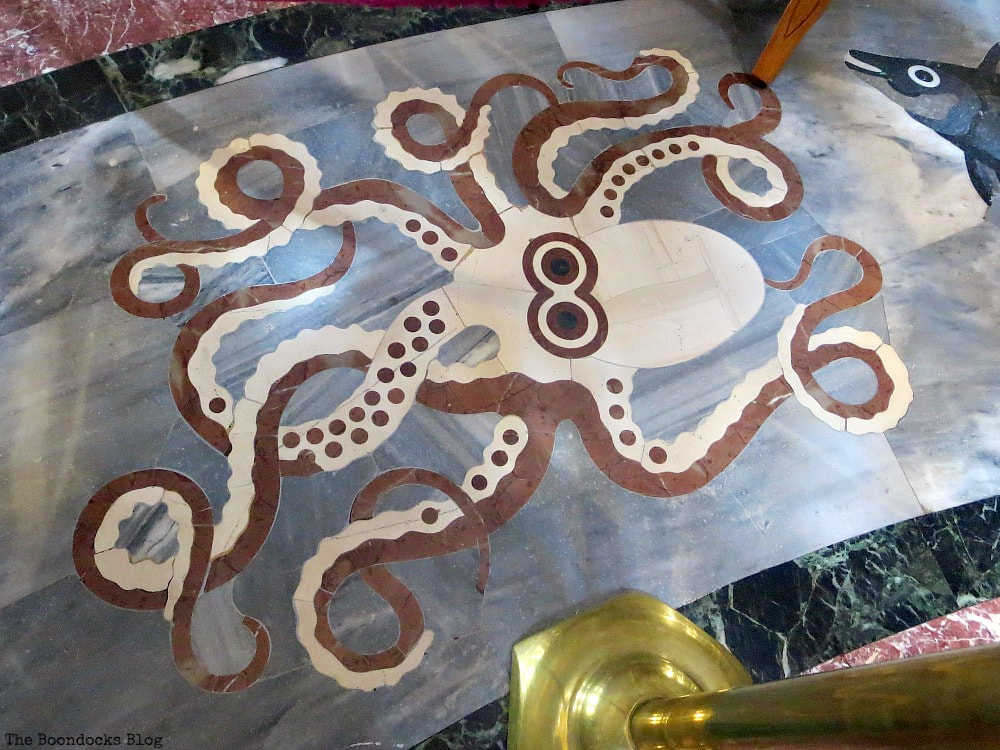 Marble design of octopus on floor, Admiring the Interior of Saint Andrew's Cathedral www.theboondocksblog.com