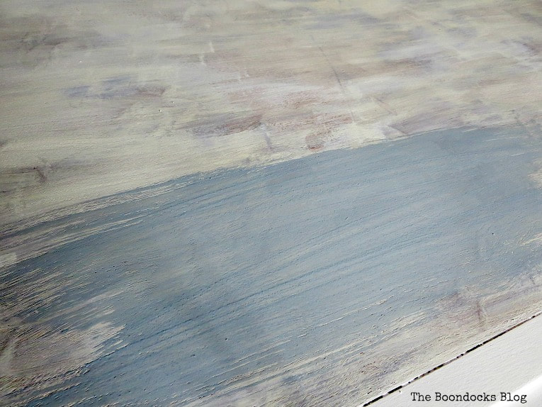 painting top with snow white and then slate milk paint, How to Revive a Vintage TV Cabinet www.theboondocksblog.com
