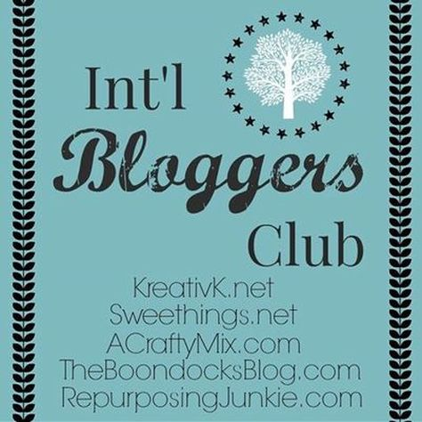 International Bloggers Club Logo, How to Make a Unique Mobile with Wire Hangers www.theboondocksblog.com