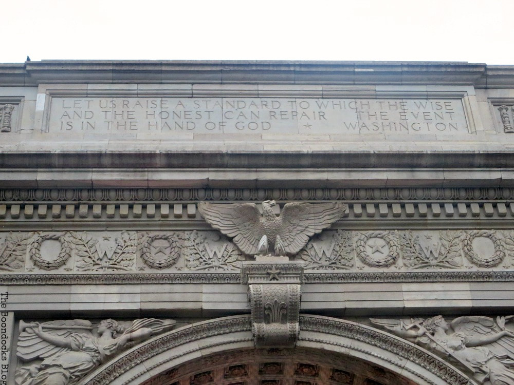 Inscription on the arch, Interesting things to see in Greenwich Village www.theboondocksblog.com